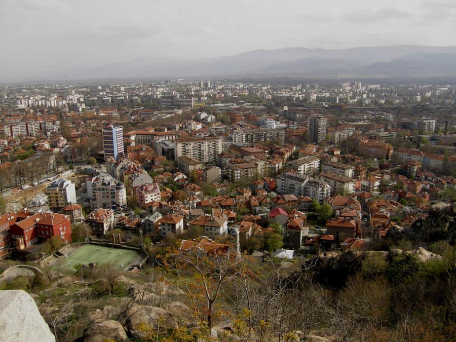 Vista panorámica de Plovdiv