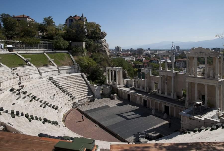 El teatro romano en el centro histórico de Plovdiv fue construido en el siglo II