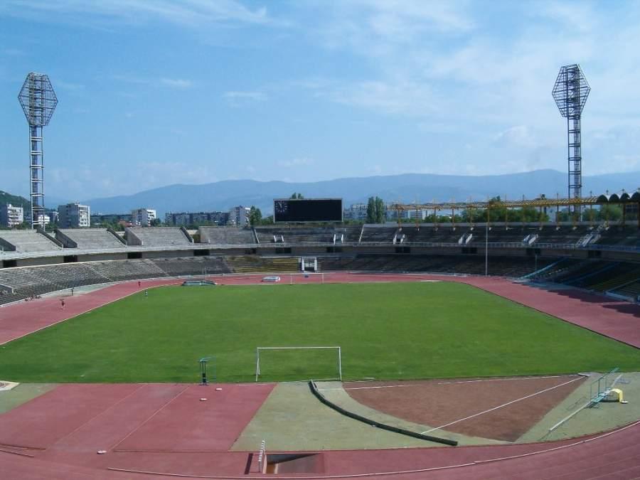 Estadio de Plovdiv, usado principalmente en campeonatos de atletismo
