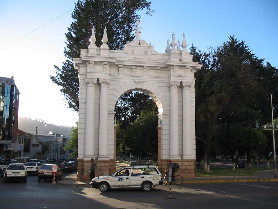 Parque Bolívar en la ciudad de Sucre