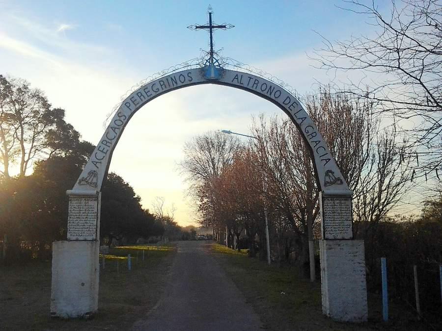 Entrada a la Capilla del Milagro de Nuestra Señora de Luján