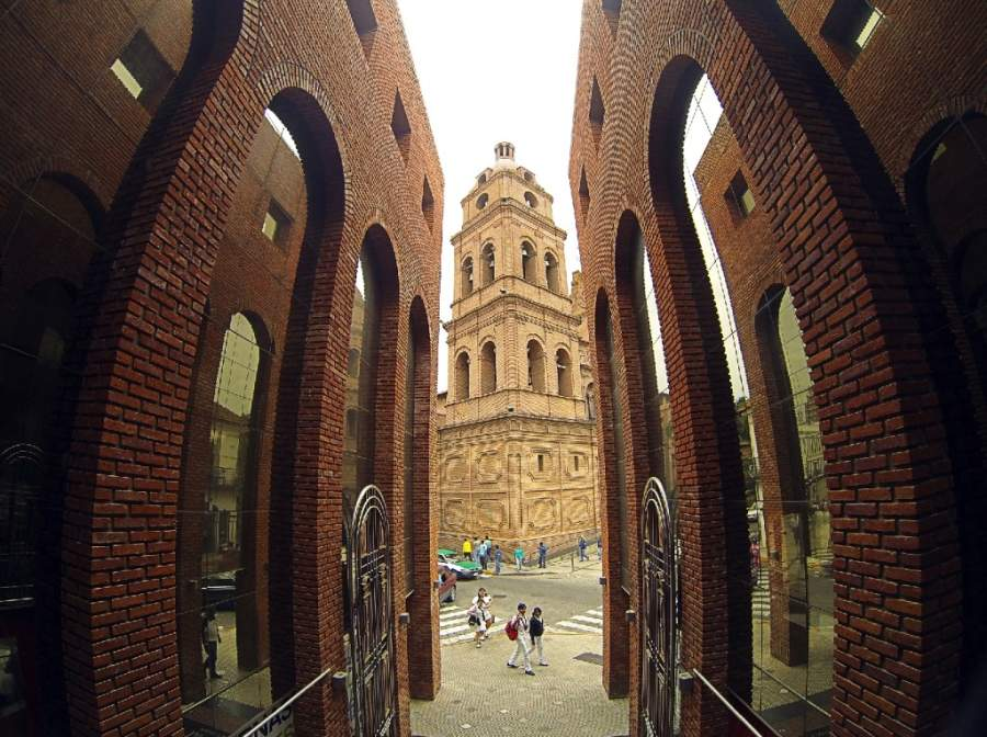 Vista de la Basílica Menor de San Lorenzo en Santa Cruz de la Sierra