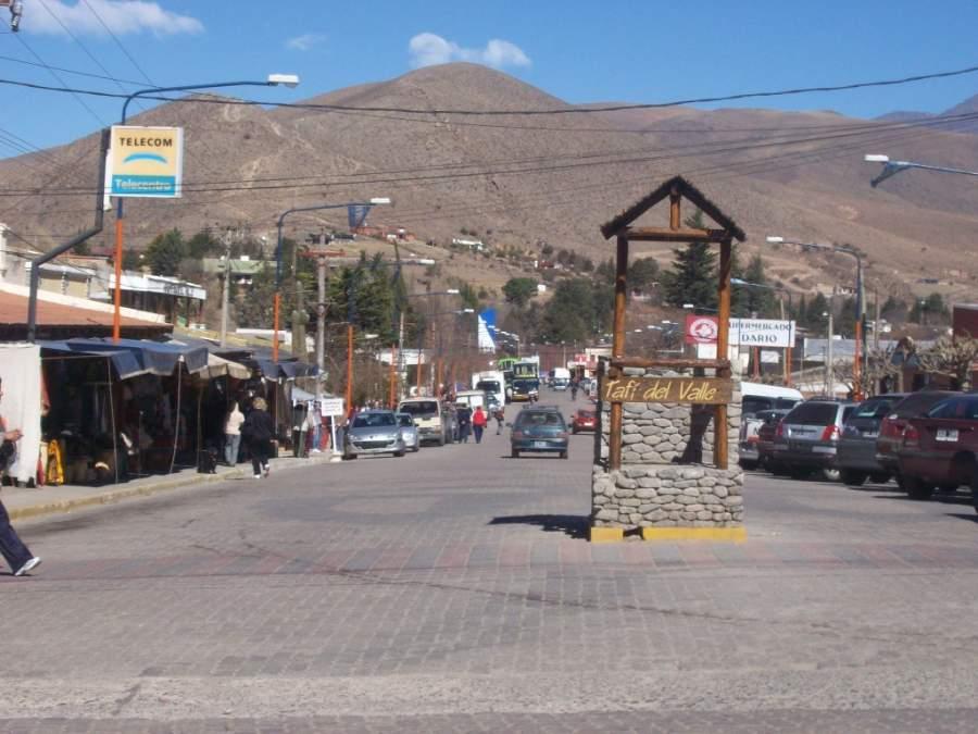 Centro de la ciudad de Tafí del Valle