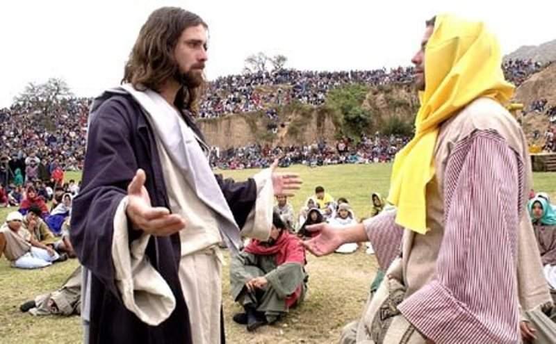 Representación de la la Pasión de Cristo en Tafí del Valle