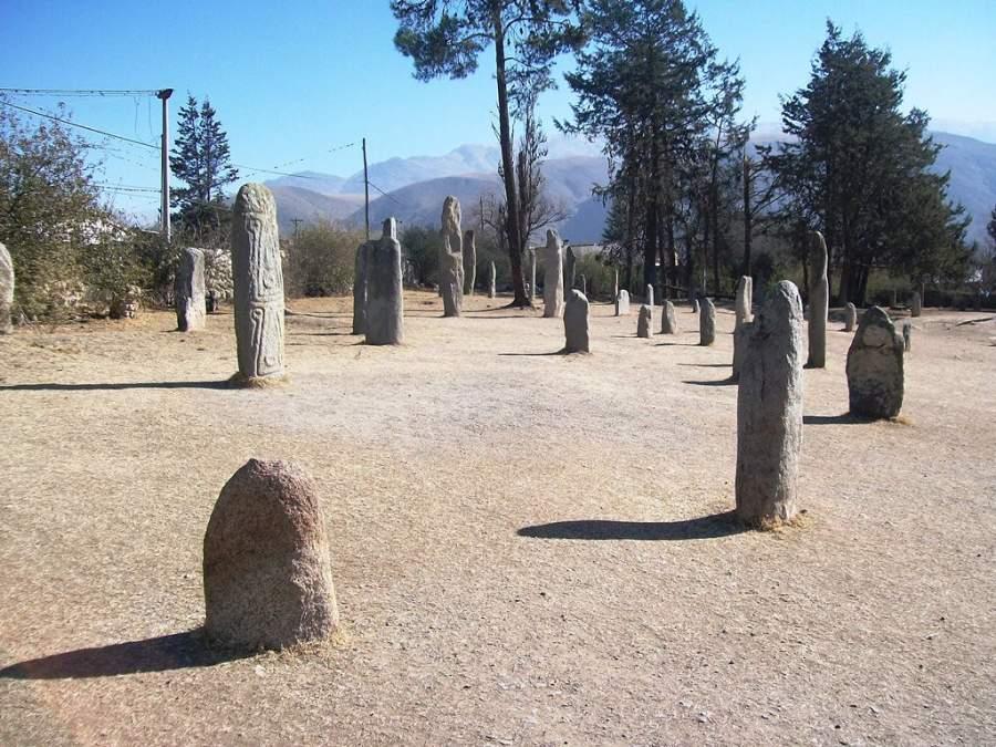 Esculturas de piedra en el Museo Provincial Los Menhires