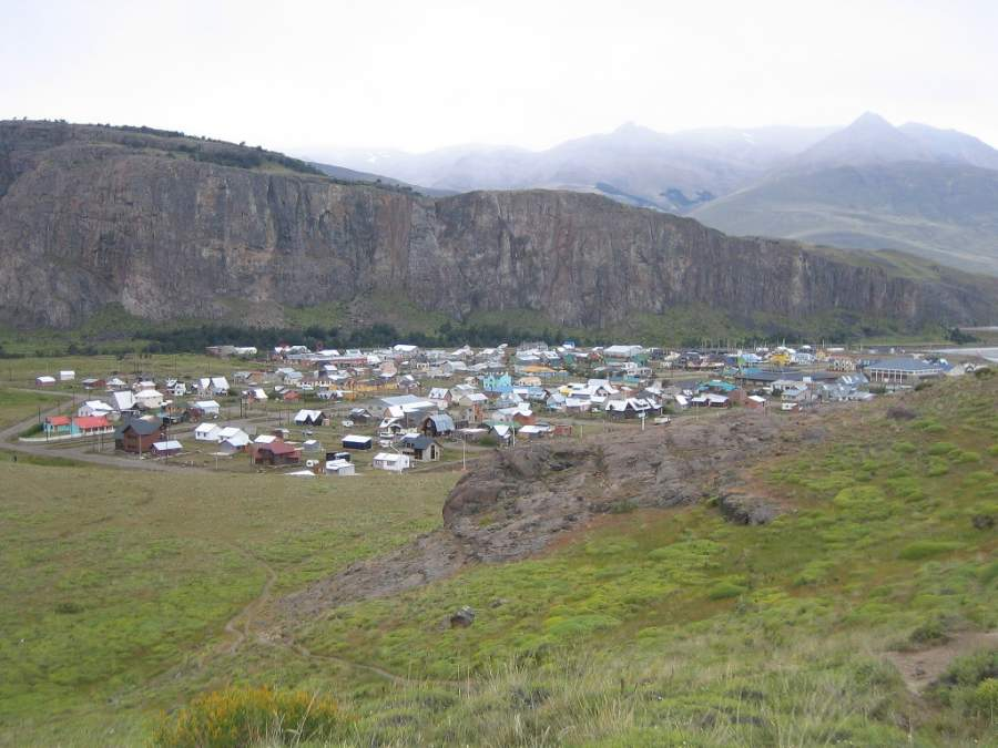 Vista de la villa de El Chaltén