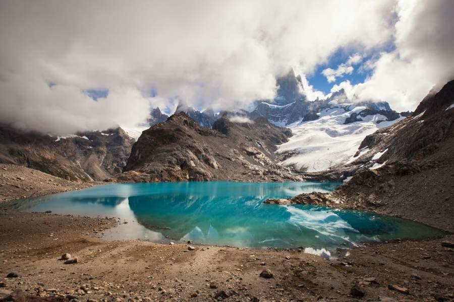Maravíllate con los paisajes de la laguna de los Tres en las cercanías de El Chaltén