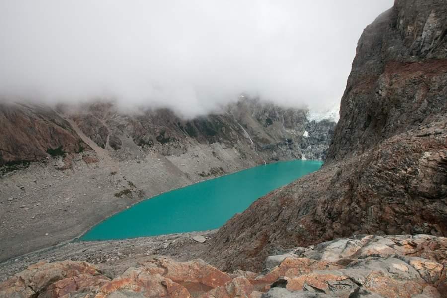 Laguna en el monte Fitz Roy cerca de El Chaltén
