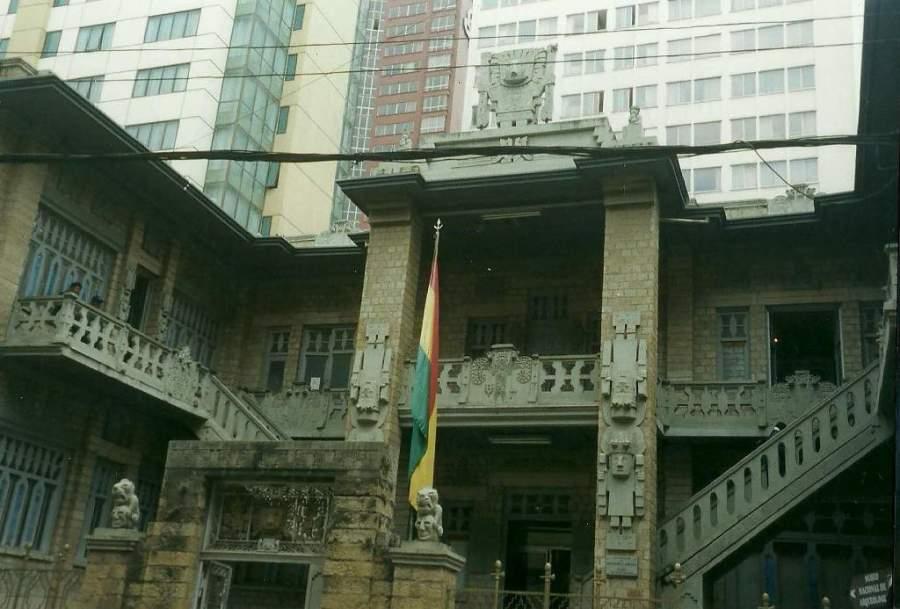 Fachada del Museo Nacional de Arqueología de La Paz