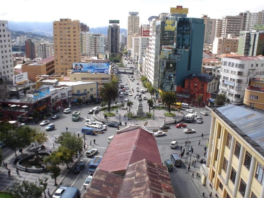Plaza del Estudiante en La Paz, Bolivia