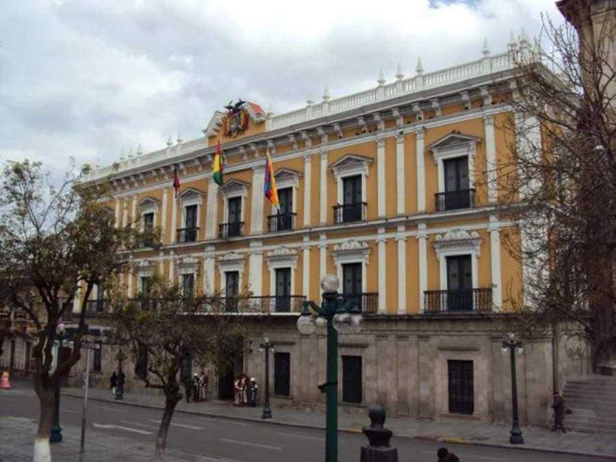 Palacio de Gobierno o Palacio Quemado en La Paz