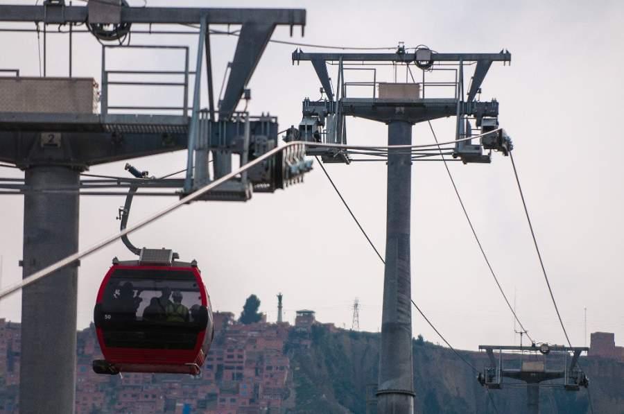 Sistema de teleféricos en la ciudad de La Paz