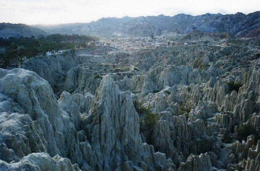Formaciones rocosas en el Valle de la Luna