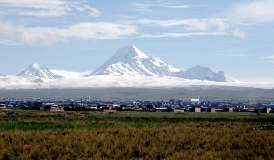 Montaña Huayna Potosí cerca de Nuestra Señora de La Paz