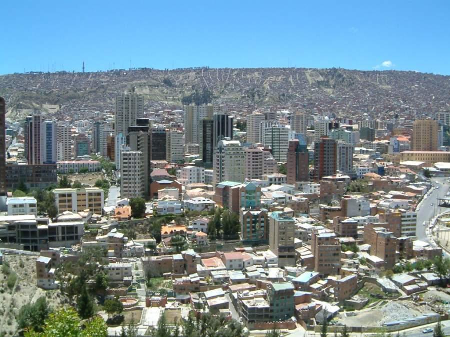 Centro de la ciudad de Nuestra Señora de La Paz