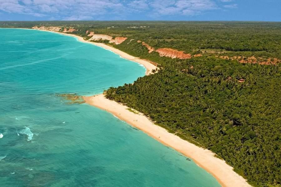 Vista de las playas en Arraial d'Ajuda