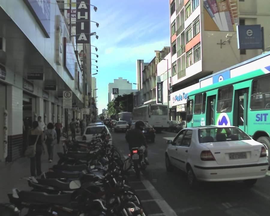 Avenida típica en Araxá