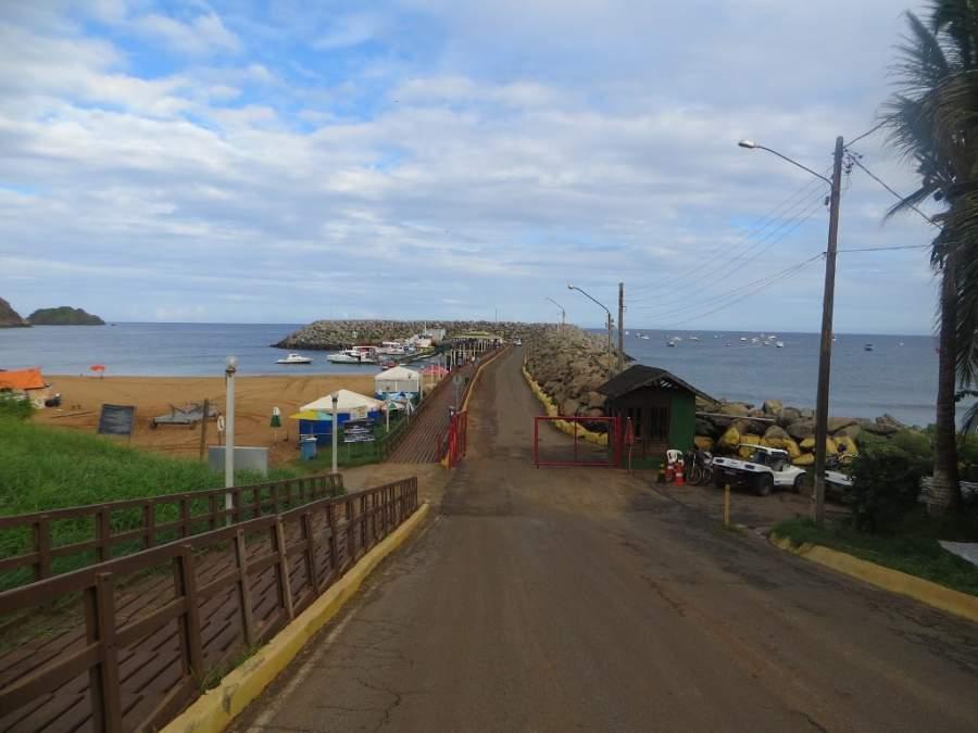 Vista de la costera de Fernando de Noronha