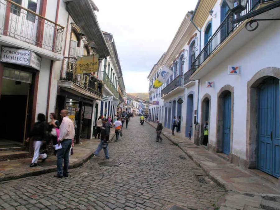Zona comercial en el centro de Ouro Preto