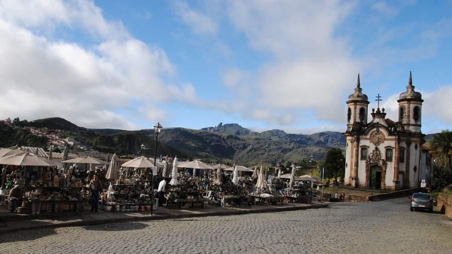 Feria del Artesano en Ouro Preto