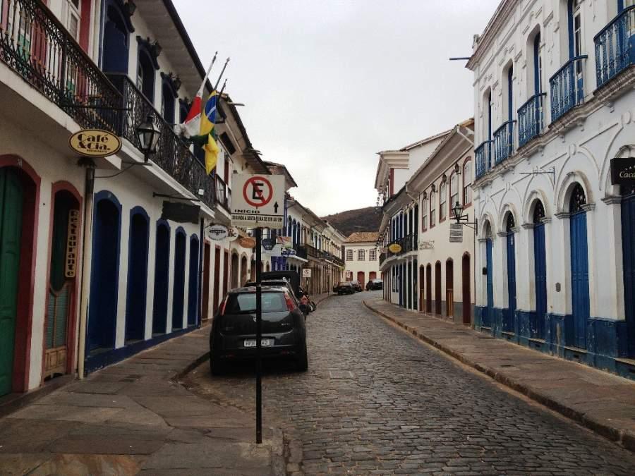 Calle céntrica de la ciudad