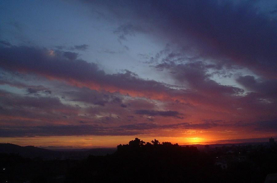 Puesta del sol en Puerto Alegre