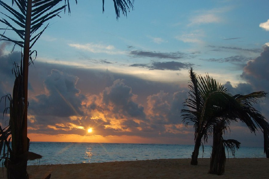 Atardecer en una de las playas de Punta Cana