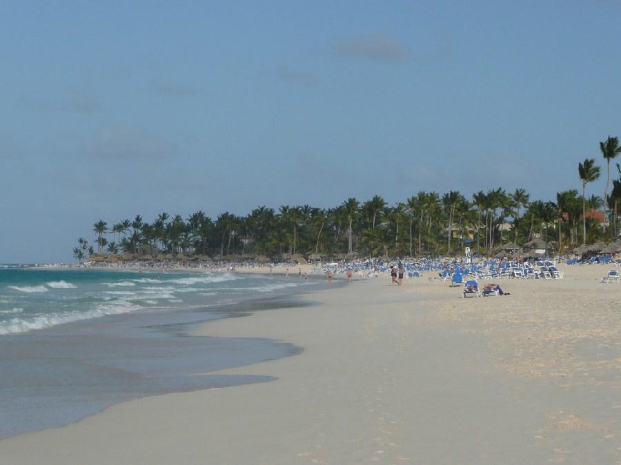 Vista de la costa de Punta Cana