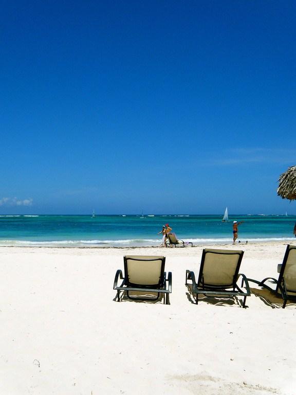 Vista al mar desde las playas de Punta Cana