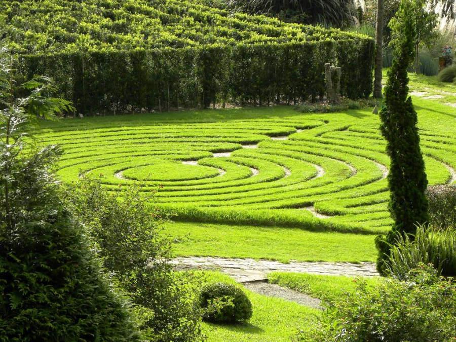 Jardines en el parque Amantikir