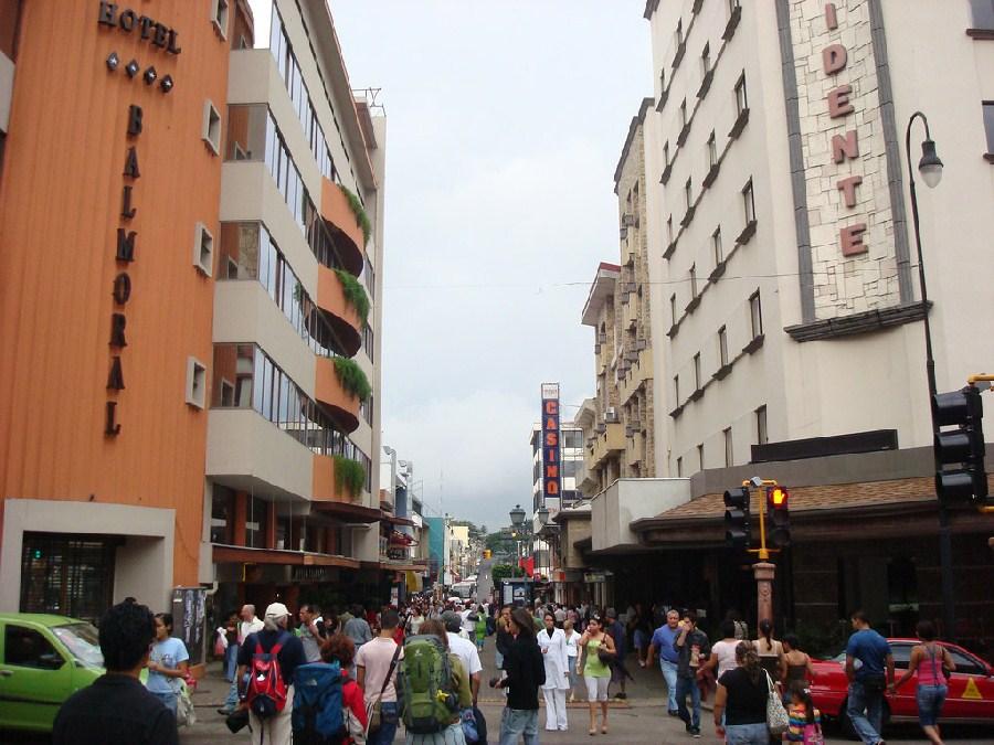 Bulevar en la Avenida Central