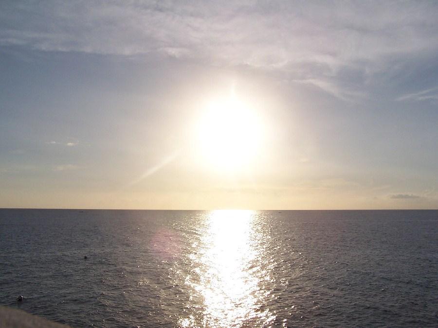 Atardecer sobre el mar de Negril