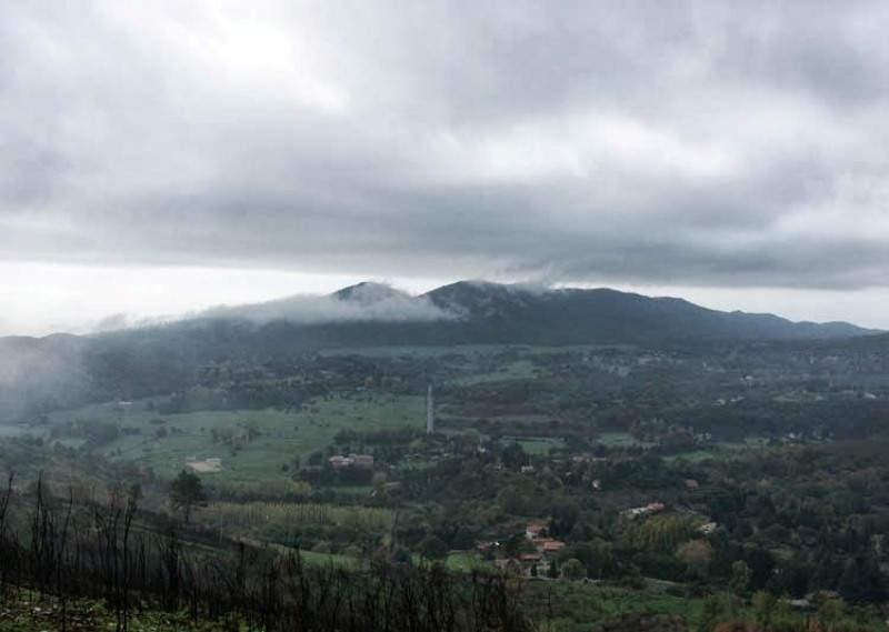 Vista panorámica del Parque Regional de los Castelli Romani en Lariano