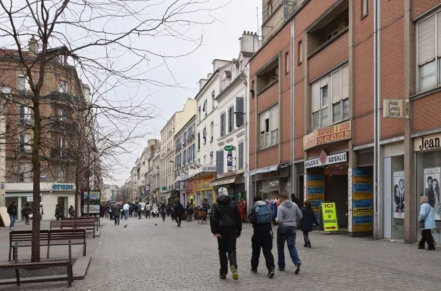 Calle Gabriel Péri en Saint-Denis