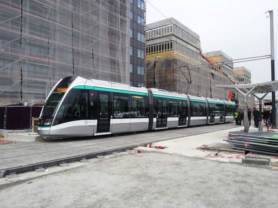 Servicio de tranvía en Saint-Denis