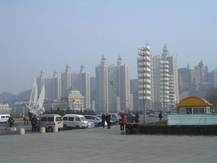 Edificios de la ciudad de Dalian en China