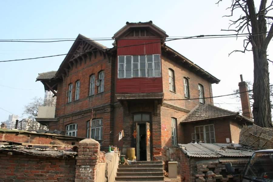 Casa rusa en la ciudad de Dalian