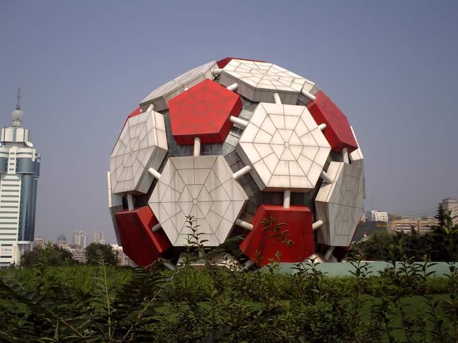 Balón de futbol, símbolo de Dalian