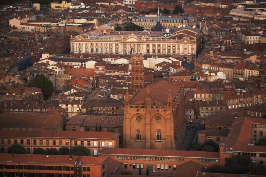 Vista aérea del centro de Toulouse