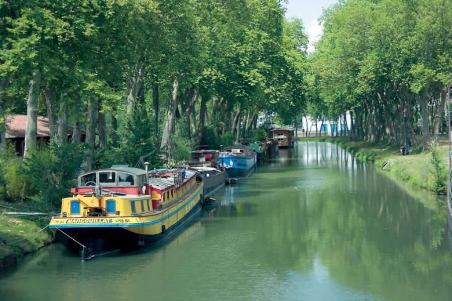 Botes en el Canal del Midi