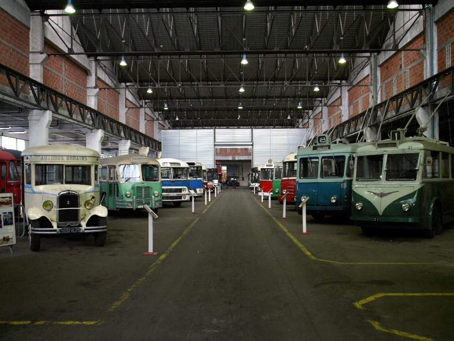 Exhibición en el Museo de Transportes Urbanos en Colombes