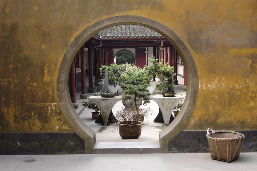 Puertas en el monte Putuo en Zhoushan