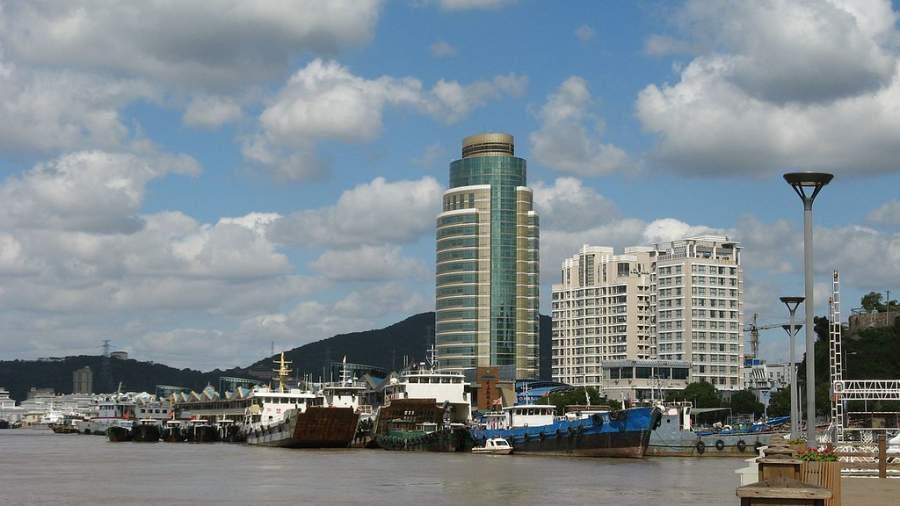 La ciudad de Zhoushan se localiza al sur del río Yangtsé