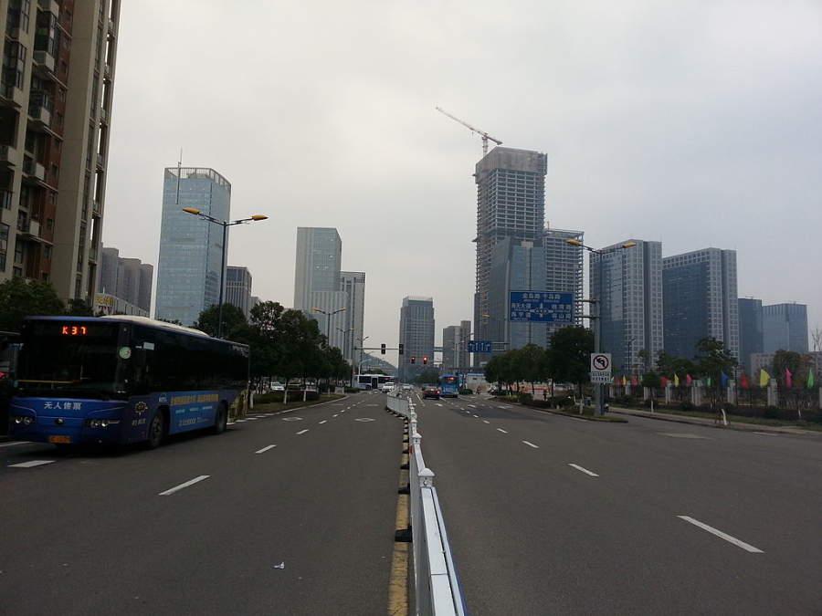 Recorre el nuevo centro de la ciudad de Zhoushan