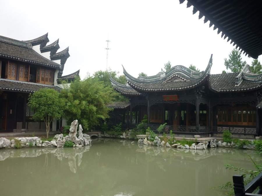 Parque Cultural Liangzhu en la ciudad de Ningbo