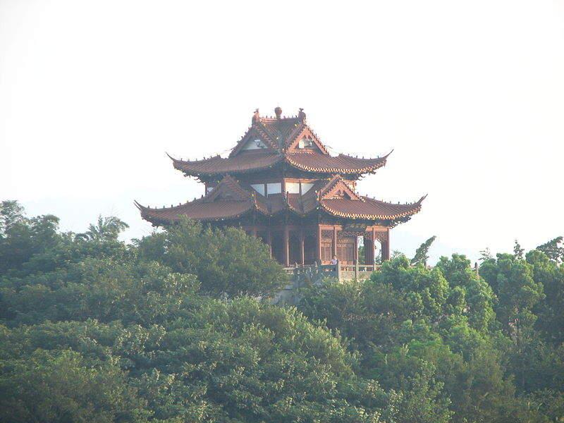Hermosa vista del Parque Xiaoshan en Ningbo
