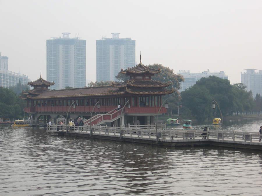 Toma la foto de los hermosos paisajes en Changsha