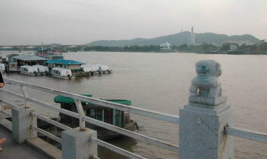 Vista panorámica de la montaña Yuelu en Changsha