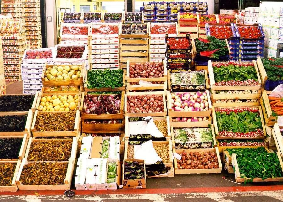 Locales de mercancías en el Marché International de Rungis