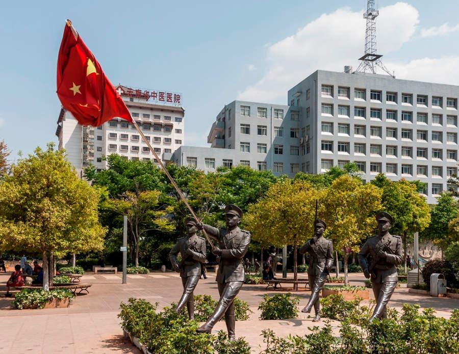 Monumento dedicado a la policía en Kunming